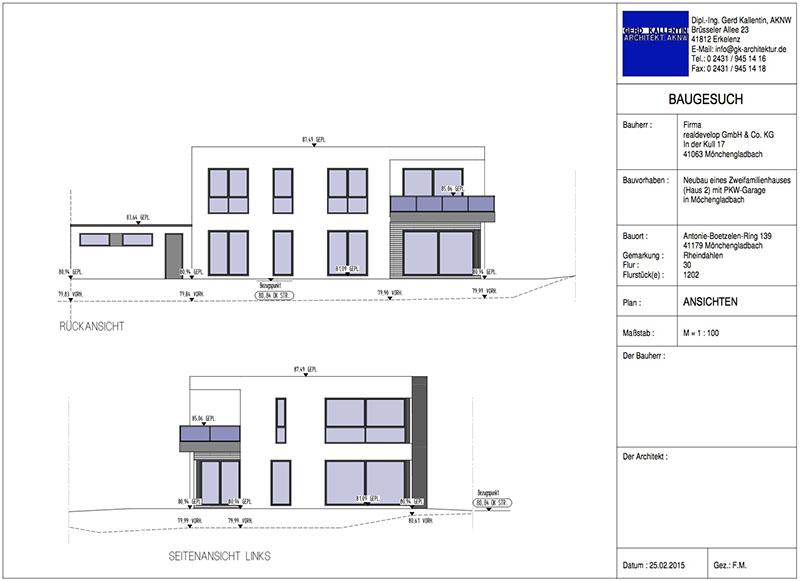 Schnittzeichnung Haus neue projekte